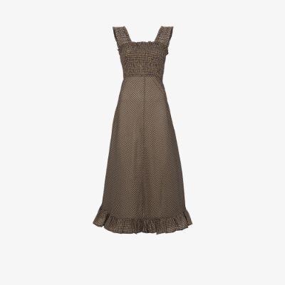 X Browns 50 sleeveless seersucker maxi dress
