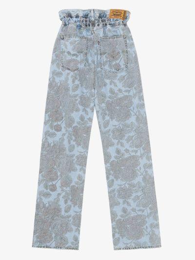 X Levi's floral High Waist Jeans
