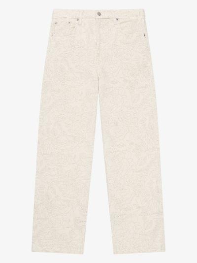 X Levi's Floral Straight Leg Jeans