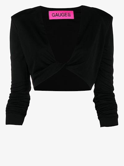 V-neck crop top