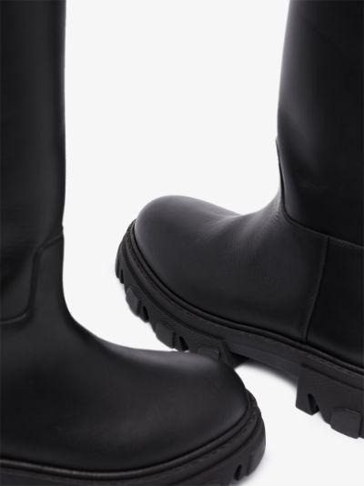 X Pernille Teisbaek black Tubular leather boots