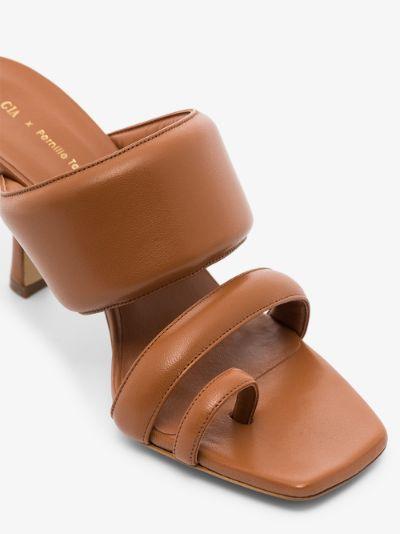 X Pernille Teisbaek Brown Perni 03 80 Leather Sandals