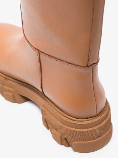 X Pernille Teisbaek brown Tubular leather boots