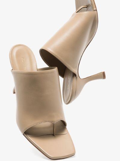 X Pernille Teisbaek neutral Perni 02 80 leather mules