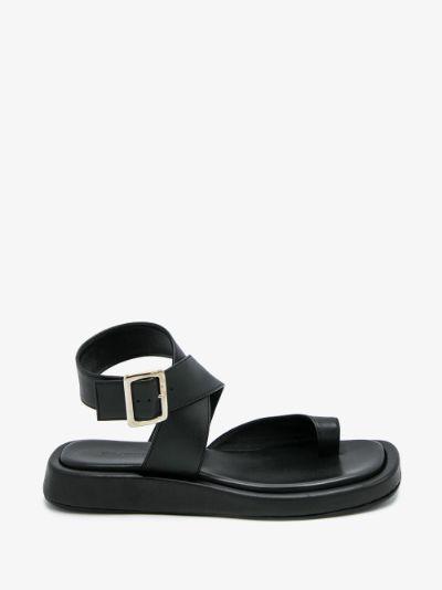 X Rosie Huntington-Whiteley black 4 sandals
