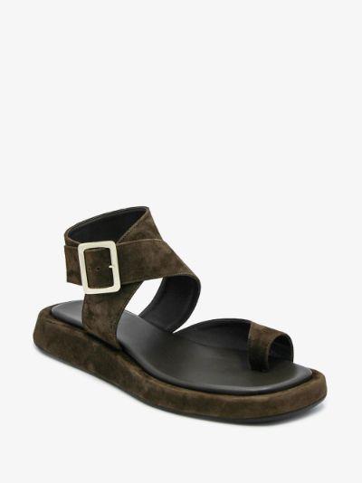 X Rosie Huntington-Whiteley brown 4 sandals