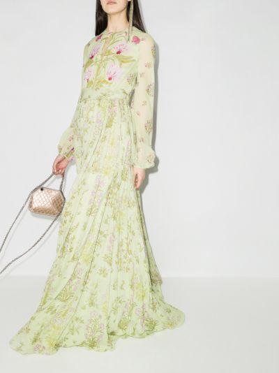 floral print silk maxi dress