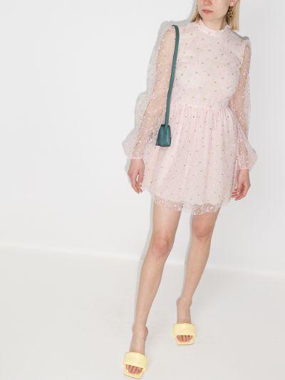 Floral Tulle Mini Dress
