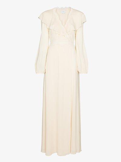 ruffled collar maxi dress