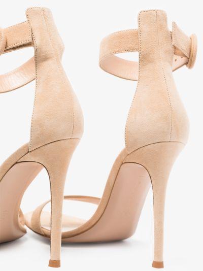 beige Portofino 105 suede sandals