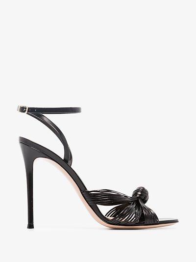 black 105 knot front sandals
