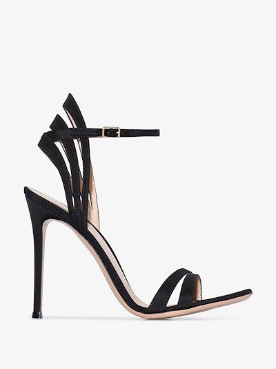 Black 115 strap detail sandals