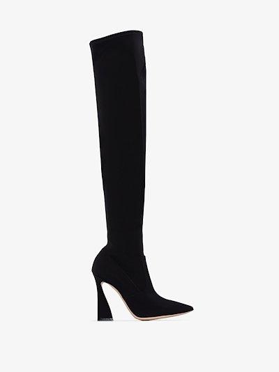 Black atlas 105 thigh-high stretch boots