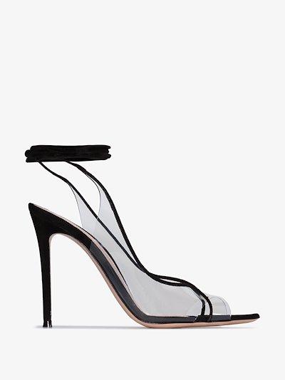 black Denise 115 leather sandals
