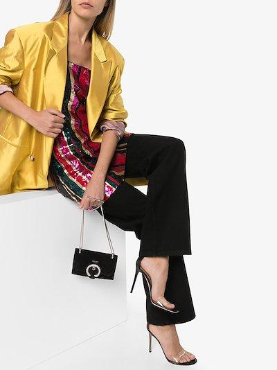 black Portofino 105 PVC and leather sandals