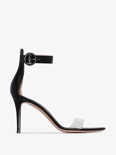 black Portofino 85 leather sandals