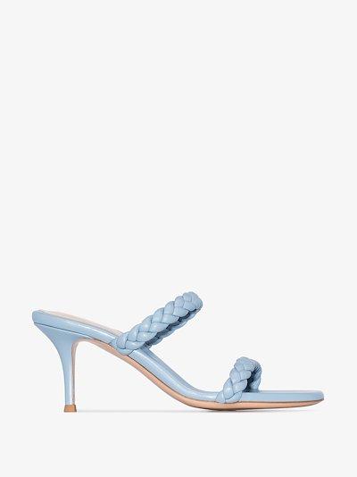 blue 70 plaited strap sandals
