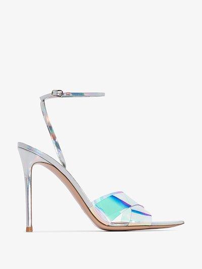 blue stark 115 hologram plexi sandals