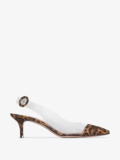 brown Alice 55 leopard print slingback pumps