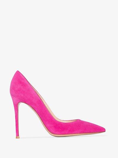 Pink 105 suede pumps