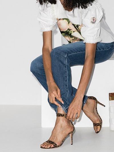 Portofino 105 leopard print suede sandals