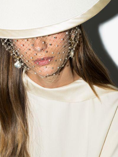 Ivory Charlotte crystal mini veil