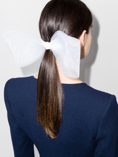 white everette oversized bow hair clip