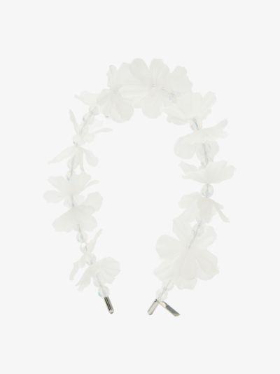 white Sunbeam Floral headband