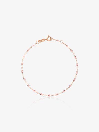 18K rose gold 17 CM beaded bracelet