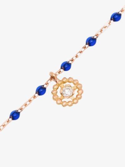 18K rose gold 17 CM diamond charm bracelet