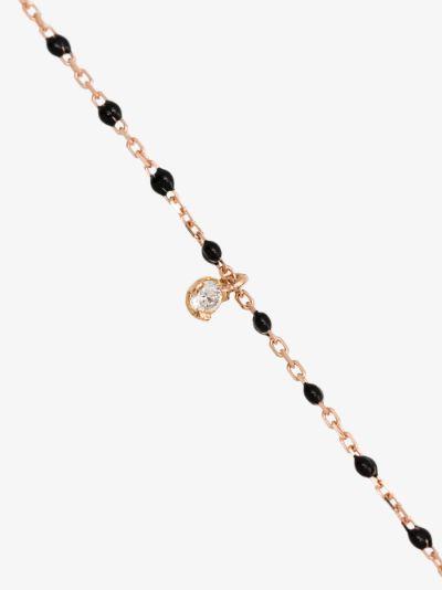 18K rose gold 40 CM beaded diamond necklace