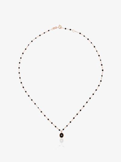 18k rose gold 42 CM beaded diamond necklace