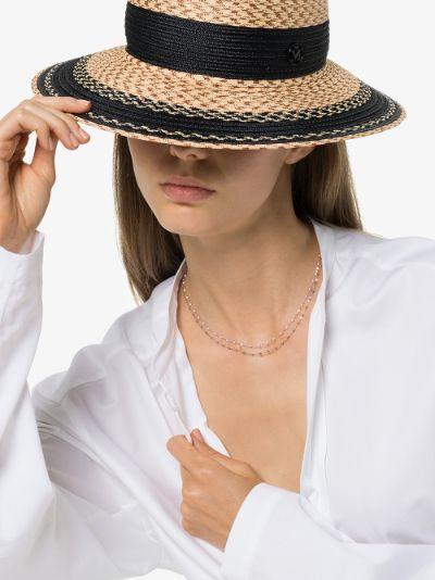 18K rose gold 42 CM beaded necklace