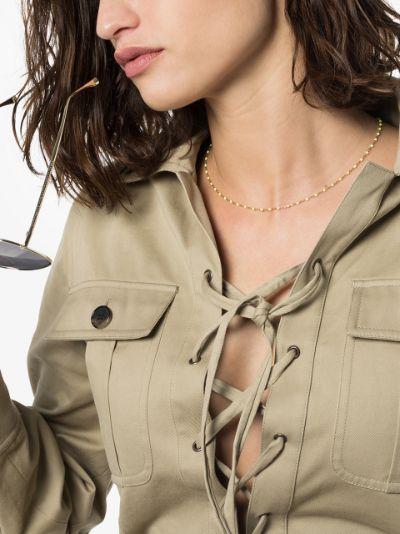 18K rose gold 45 CM beaded necklace