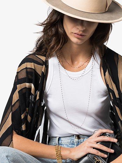 18K rose gold 50 CM beaded necklace