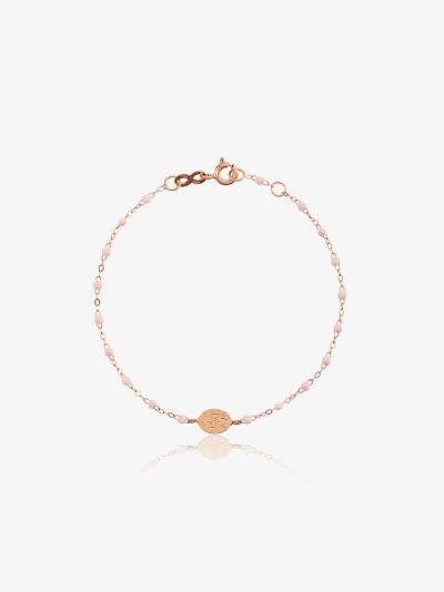 18K rose gold and pink bead bracelet