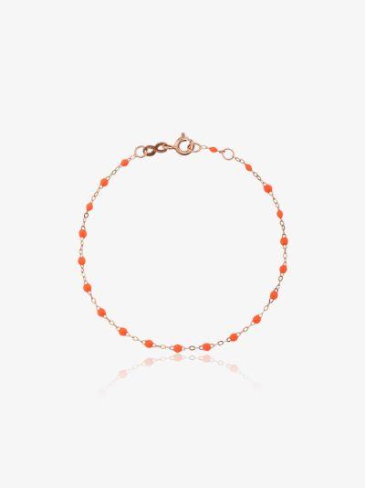 18K rose gold beaded bracelet