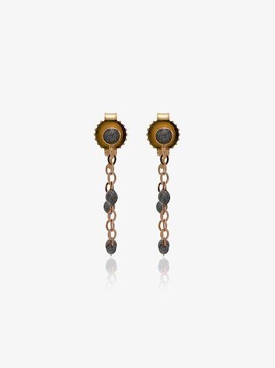 18K rose gold beaded earrings