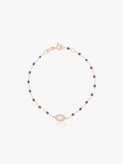 18K rose gold Classic Gigi Quartz Me Hearty 17 CM diamond bracelet