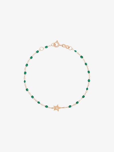18K rose gold green diamond bracelet