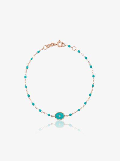 18K rose gold North Star 17 CM beaded diamond bracelet