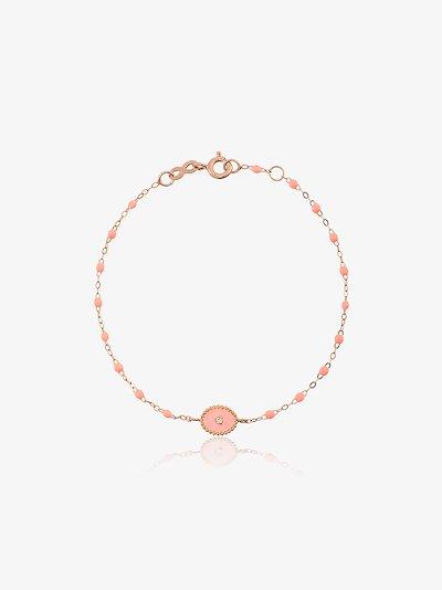18K rose gold North Star beaded diamond bracelet