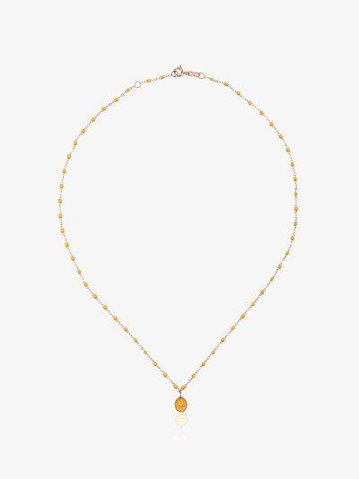 18K rose gold North Star beaded diamond necklace