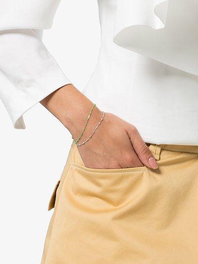 18K white gold beaded bracelet