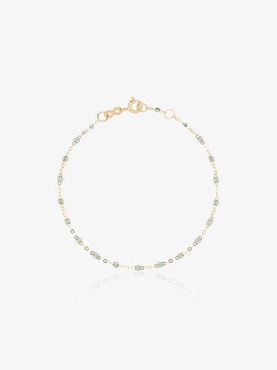 18K yellow gold 17 CM beaded bracelet