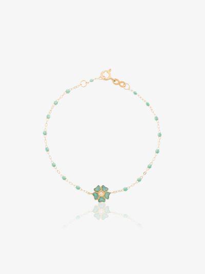 18K yellow gold 17 CM diamond flower bracelet