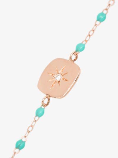 18K yellow gold 17 CM Miss Gigi beaded diamond bracelet