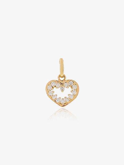 18K yellow gold Heart Supreme diamond charm