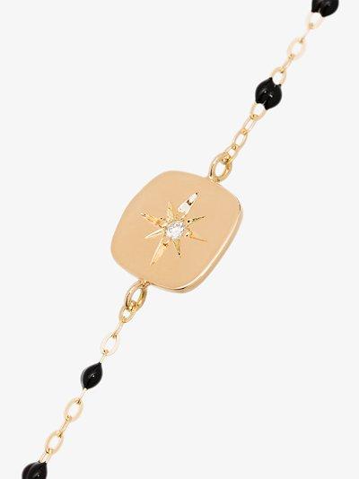 18K yellow gold Miss Gigi 17 CM beaded diamond bracelet