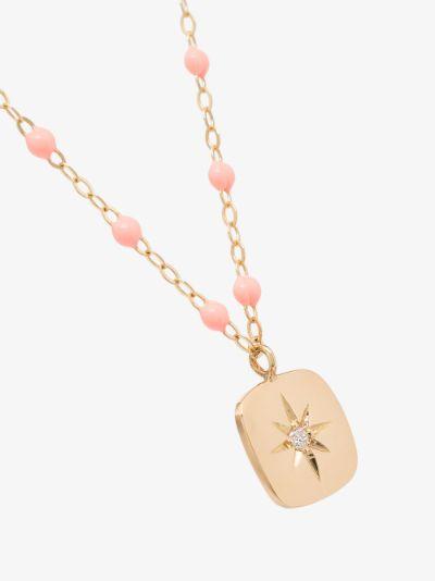 18K yellow gold Miss Gigi 42 CM beaded diamond necklace